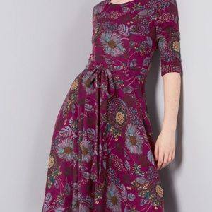 Coveted company dress in purple floral